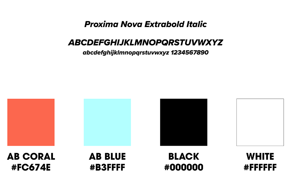 Athletes Brand primary fonts and colors