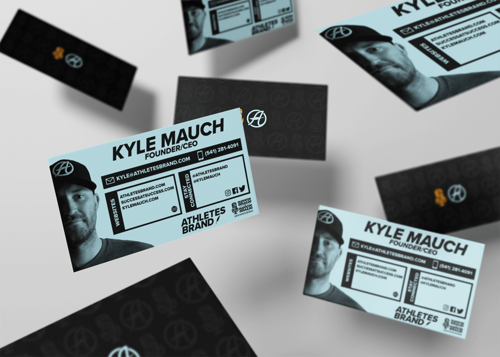 Kyle Mauch Athletes Brand Business Card mockup