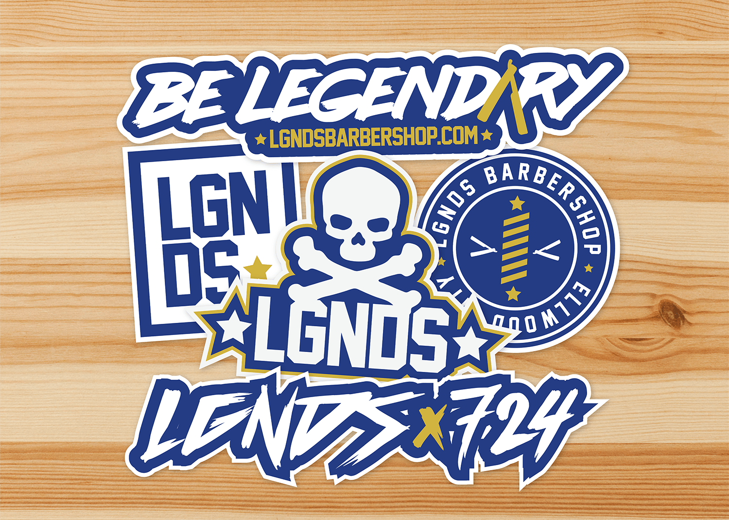 LGNDS Sticker mockup