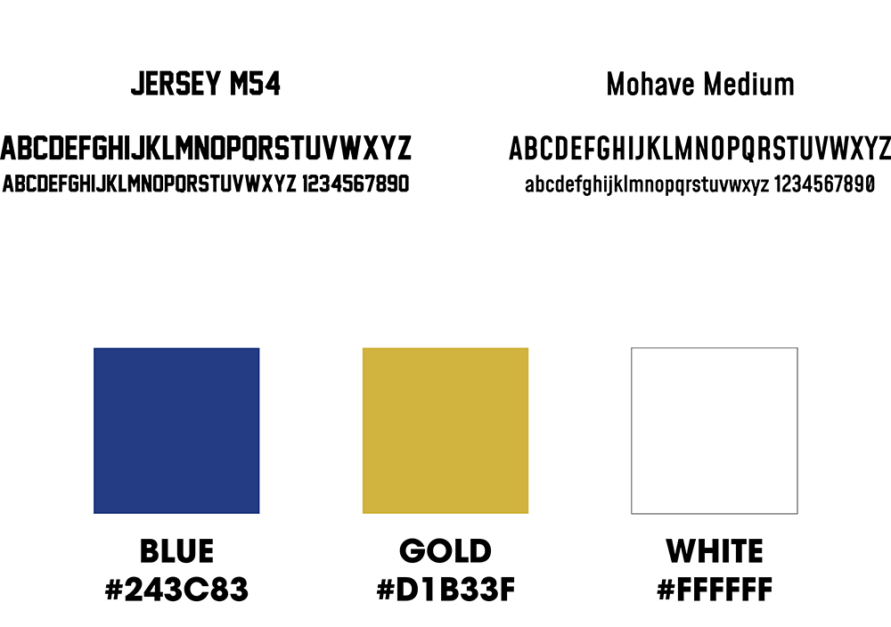 LGNDS primary fonts and colors