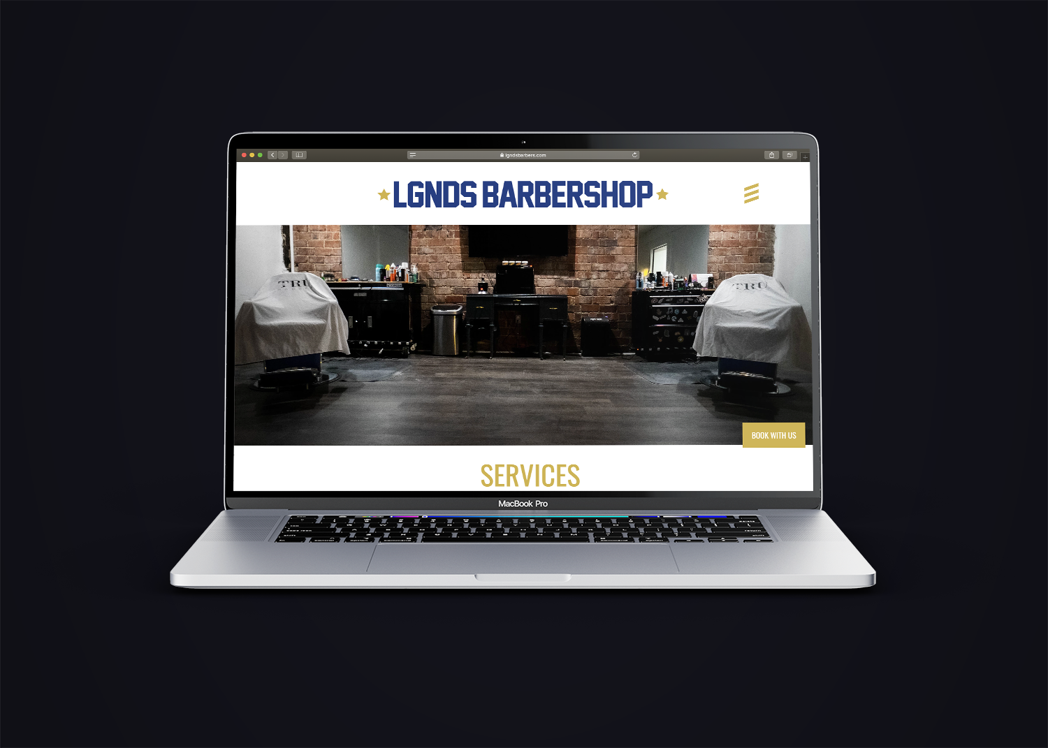 LGNDS website mockup