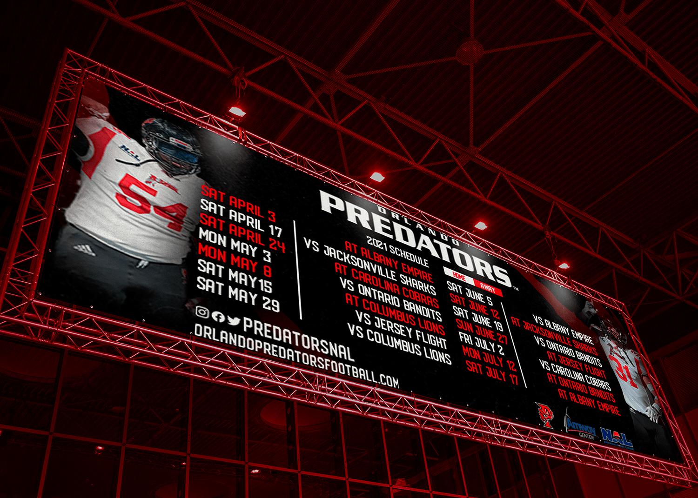 Orlando Predators scoreboard-min
